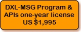 DXL-MSG Program and APIs, one-year license, $1,995
