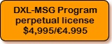 DXL-MSG Program, perpetual license, $4,995/€4.995